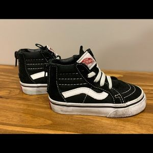 Vans Off The Wall High Top Skate Shoes - Toddler